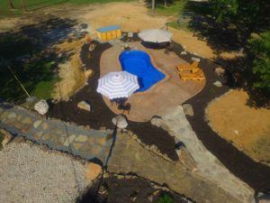 Natural stone walkway & patio at Laurie, MO