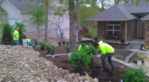 Hardscaping construction at Lake of the Ozarks