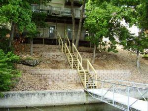 Use retaining walls for erosion control