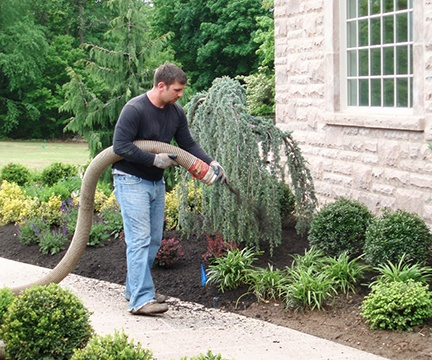 Mulch Blowing & Installation Service