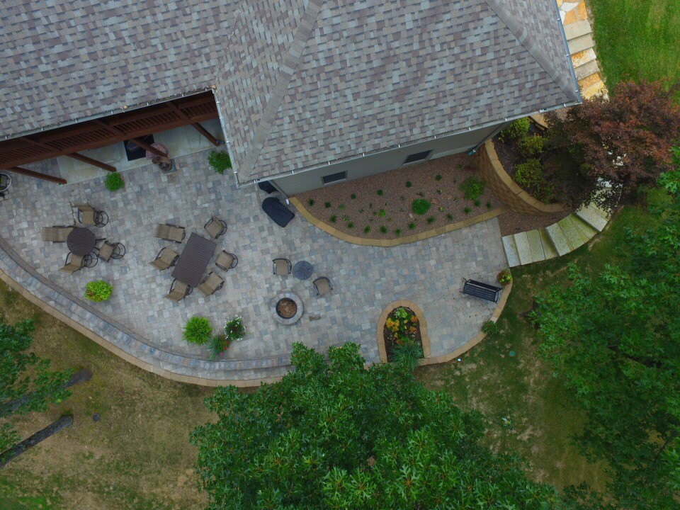 Custom patio which we designed and built at Lake of the Ozarks