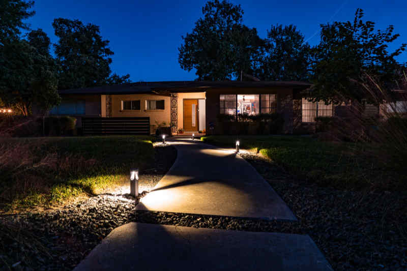 Landscape With Low Voltage Outdoor Lighting