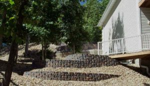 Use terraces and retaining walls to landscape your hills.