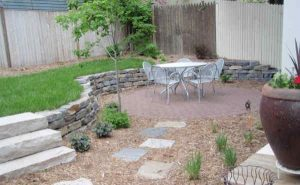 Small patio looks perfect in small backyard